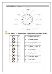 93 FREE ESL clock worksheets