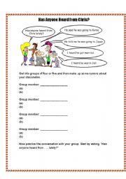 English Worksheets: has anyone heard...