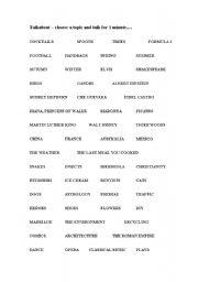 English Worksheets: Talkabout