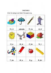 English Worksheet: Long Vowel