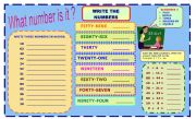 NUMBERS 0-100  ( 2 Pages )