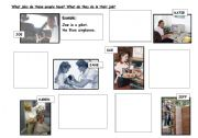 English worksheet: What jobs do they have? What do they do in their jobs?