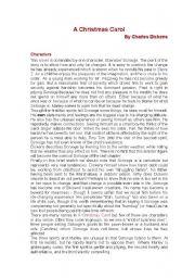 English worksheets: A Christmas Carol summary