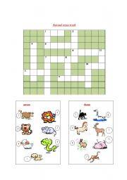 animal cross word(14 animals)