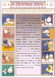 English Worksheet: Writing  : A Christmas Story
