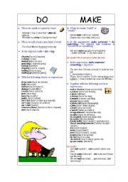 English Worksheet: Do vs. Make