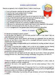 English Worksheet: READING - English for Specific Purposes