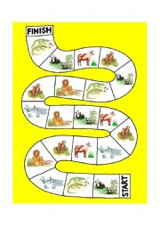 English Worksheets: Animal Game 3 - What do animals eat?