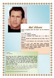 Write a biography Mel Gibson 1/4