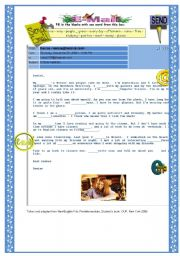 English Worksheet: e-mail to a pen-friend