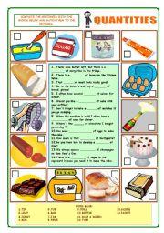 English Worksheets: Quantities