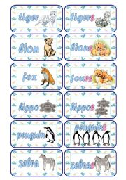 English Worksheets: Singular - Plural Cards (Part 3 of 5)