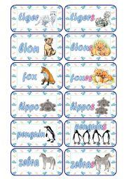 English Worksheet: Singular - Plural Cards (Part 3 of 5)