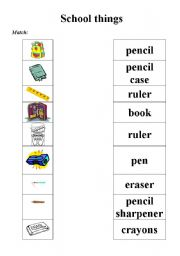 free matching worksheets