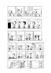 English Worksheet: PEANUTS & GARFIELD BLANK COMIC STRIPS 1/5