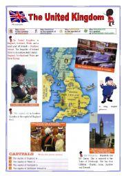 English Worksheet: The United Kingdom (2sheets)