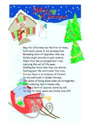 English Worksheet: Christmas poem by Nicholas Gordon