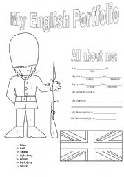 English Worksheet: My english Portfolio
