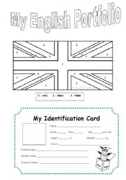 English Worksheets: My English Portfolio I
