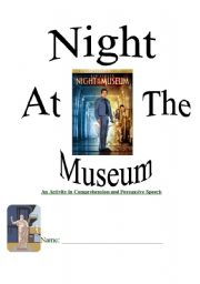 English Worksheet: Night At The Museum Comprehension Packet