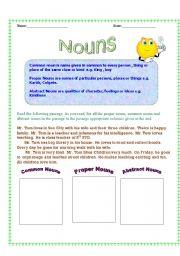 Printables Types Of Nouns Worksheet esl kids worksheets types of nouns english worksheet nouns
