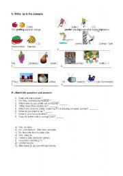 English Worksheets: prefer