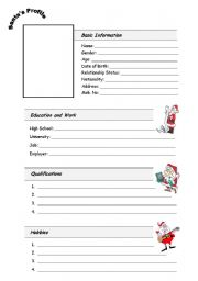 English Worksheets: Santa�s Profile