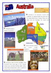 English Worksheet: Australia (2 sheets)