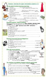 English Worksheet: Grammar Exercises for upper intermediate students (2)