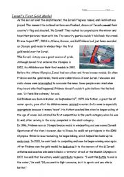 English Worksheet: Reading Comp. - Olympics - Sports- Windsurfing