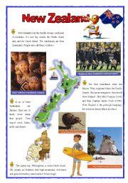 English Worksheet: New Zealand (2sheets)