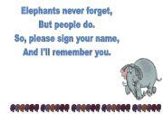 English Worksheets: Elephants never forget