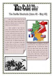 English Worksheets: Cold War Epidodes 1 - Berlin Blockade