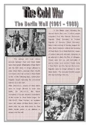 English Worksheets: The Cold War - Episode 2 - The Berlin Wall