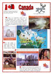 English Worksheet: Canada (2sheets)