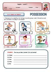 English Worksheets: IS IT JANE�S OR JOHN�S?