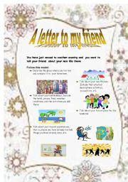 English Worksheets: letter to a person you know very well
