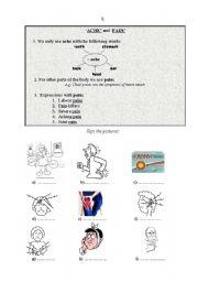 English Worksheet: Health and medicine