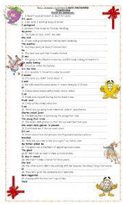English Worksheets: Grammar Practice (Paraphrasing)