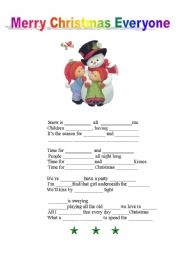 English worksheet: Christmas song