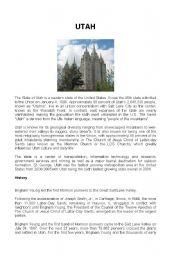 English Worksheets: UTAH