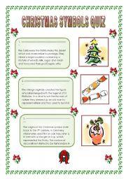 English Worksheet: Christmas symbols quiz