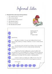 How to write informal letter writing choice image letter format informal letter writing esl worksheet by ewcik english worksheet informal letter writing expocarfo choice image spiritdancerdesigns Gallery