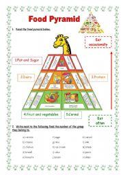 esl worksheets for beginners food pyramid. Black Bedroom Furniture Sets. Home Design Ideas