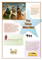English Worksheet: The Three Wise Men : the Story (1/3) (the other ws is about the celebration)