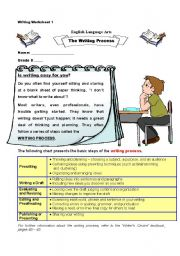 English Worksheets: The Writing Process