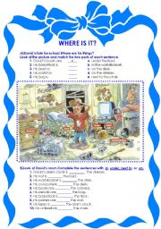Where is it? / Prepositions
