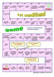 English Worksheet: 1st Conditional Game