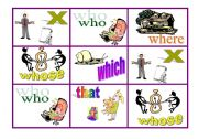 English Worksheets: Relative Clauses Game