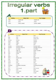 Irregular Verbs Learning English Language
